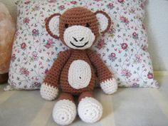 Singe au crochet, #amigurumi // Monkey / mono