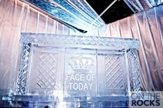 Ice Sculpture #Ice #IceBar Ice Bars, Ice Sculptures, The Rock, Entryway Tables, Cool Stuff, Decor, Decoration, Decorating, Rock
