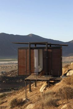 Hotel Endémico in Valle de Guadalupe, Mexico. Always drive by these - time to book a stay!