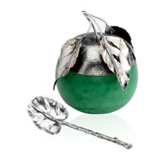Buccellati Sterling Silver Green Apple Jam Jar
