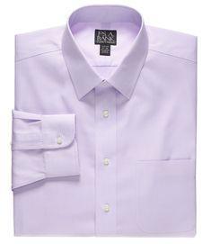 Traveler Slim Fit Spread Collar Dress Shirt