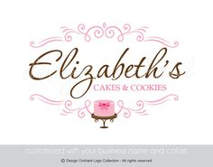 Elegant Bakery Logo With Cake Illustration by DesignOrchard, $45.00