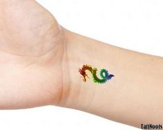Rainbow Serpent Dragon Snake 2 Temporary Wrist or Ankle Tattoos