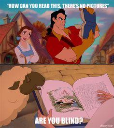 No one needs glasses like Gaston..