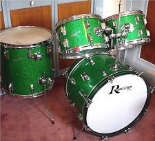 Rogers green sparkle drum set, Vintage Cleveland Holiday kit