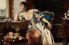 by Belgian Painter Gustave Leonard de Jonghe 1829-1893