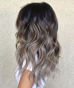 48 Balayage Ombre Hair Colors For 2019 Heavenly ashy blonde balayage Ash Brown Hair Color, Brown Ombre Hair, Light Brown Hair, Hair Ideas For Brunettes, Brown And Silver Hair, Ombre Hair Color For Brunettes, Brown Hair For Fall, Different Brown Hair Colors, Brunette Hair Colors