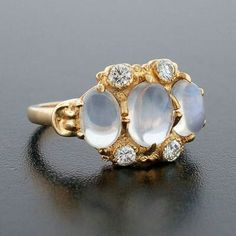 Moonstone and diamond ring 1945