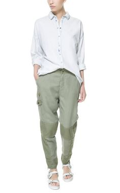 Image 1 of LOOSE CARGO TROUSERS from Zara
