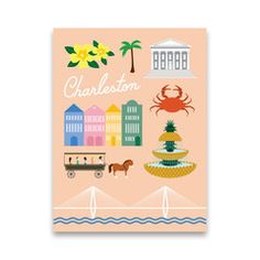 Hey, look what I found! Check out Iconic Charleston by Postal Modern by Tamara Mayne on Bezar