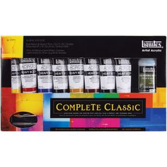 Shop for Liquitex Heavy Body Acrylic Paint SetComplete Classic. Get free delivery On EVERYTHING* Overstock - Your Online Sewing & Needlework Shop! Liquitex Acrylic Paint, Acrylic Paint Set, Malm, Needlework Shops, Titanium White, Canvas Board, Shades Of Green, Body, Classic