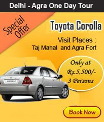 Kumar Taxi Services offers Same Day Booking Toyota Corolla from Delhi to Outstation by Driver, Toyota Corolla is Suitable for small family tour from delhi to Goa, Agra, Shimla Manali, Jaipur and Rajasthan. Enjoy Honeymoon Couples for tour by Toyota Corolla Family tour Packages, Same day Agra Taj Mahal Tour with Toyota Camry Hire in Delhi to Goa, Jaipur, Rajasthan, Kulla Shimla Manali, Jaipur and Jodhpur City.   4 Passenger + Single Driver Air Conditioned Stereo Available Reclining Seats