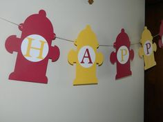 Fireman Theme Party Banner by CraftyKeener on Etsy, $15.00