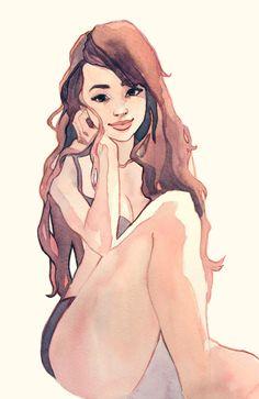 #character #female #sketch § Find more artworks: www.pinterest.com/aalishev/pins