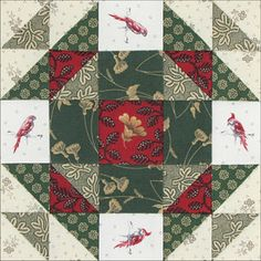 "Civil War Quilts: 52 Christmas Star = used ""search"" to find this block. Star Quilt Blocks, Quilt Block Patterns, Pattern Blocks, Christmas Blocks, Christmas Star, Christmas Quilting, Christmas Colors, Old Quilts, Barn Quilts"
