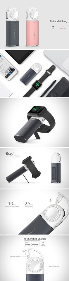 If you have an Apple Watch, you almost certainly have an iPhone if not an iPad as well! So why not simplify your remote charging with one handy device?! That's the idea behind the Power Tube 6000 W2. This nifty nugget of power features a wireless charging dock for your Apple Watch and a lighting connector for your iPhone and iPad.