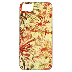 Stylish Abstract Florals Case For iPhone 5C