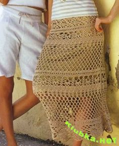 Beige skirt with diagram