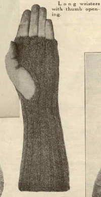 Long Thumbless Wristers - WWI Pattern