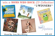 2 WINNERS! Moms Who Rock Music Prize Pack Giveaway! – Ends 4-2