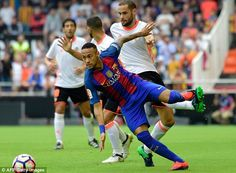 Neymar has produced a string of eye-catching assists for Barca during his 100 league games