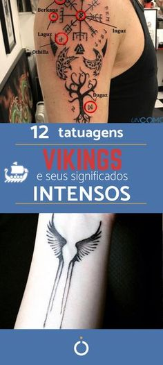 Understand TATTOOS VIKINGS Entenda as TATTOOS VIKINGS Before you go out and tattoo the Vikings symbols out there, understand the true meaning of everyone and get inspired with Vikings tattoo ideas! UmCOMO explains each one and we still show the photos. Simbolos Tattoo, Rune Tattoo, Norse Tattoo, Small Hand Tattoos, Upper Arm Tattoos, Cool Small Tattoos, Viking Tattoo Sleeve, Viking Tattoo Symbol, Tattoo Symbols