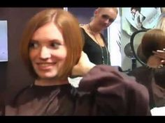 Girl cuts her long ponytail off and gets a bob Long To Short Hair, Short Hair Cuts, Short Hair Styles, Stacked Angled Bob, Hair Movie, Girls Cuts, Long Ponytails, Short Bob Hairstyles, Hair Videos
