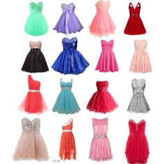 My winter formal is coming up and I really like the top two and the second row first one I love the colours and length and fluffiness