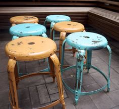 The Clock Hotel Surry Hills - Industrial Stools Industrial Stool, Industrial Interior Design, Interior Styling, Surry Hills, Rustic Room, Bar Stools, Clock, Diy Projects, Creative