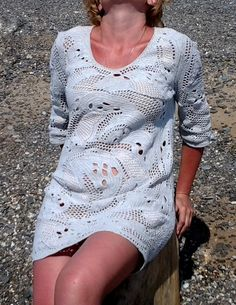 crocheted tunic by MiracleClew on Etsy