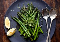 This healthy, easy dish is a classic way to serve asparagus in the Italian region of Lombardy — and it only takes a few minutes to put together. (Photo: Andrew Scrivani for The New York Times)
