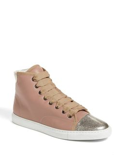 Love this: Leather High Top Sneaker @Lyst