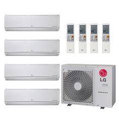 32,000 BTU 22 SEER Ductless Four Zone Heat Pump Package (7+7+7+12)