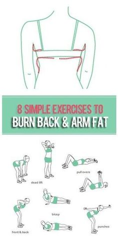 Warmer weather means tank tops and swimsuits. In other words, it's time to bare your shoulders, arms and back. Use these tips and workout to get rid of flabby arms and back fat. Three key ele… healthy Diet Tips Fitness Workouts, Fitness Motivation, Easy Workouts, At Home Workouts, Workout Exercises, Stretching Exercises, Back Of Arm Exercises, Arm Exercises Flabby, Workout Routines