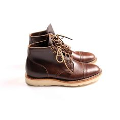 VIBERG 1950 SERVICE BOOT - BROWN COWHIDE WITH 4014 CHRISTY SOLE