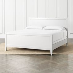 The Harbor White Queen Bed is a Crate and Barrel exclusive. Grey Bedroom Furniture, Ikea Bedroom, Bed Furniture, Cheap Furniture, Kitchen Furniture, Master Bedroom, Furniture Websites, Bedroom Kids, Furniture Vintage