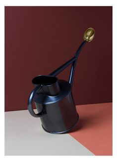 Arrosoir fait main, dans la pure tradition britannique, en métal galvanisé, parfait pour les petits appartements.