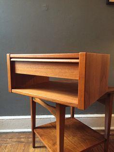 Mid century modern nightstands danish modern by VintaDelphia