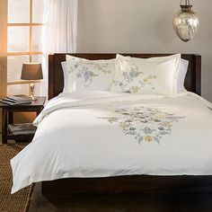 Hyacinth 3-piece Floral Duvet Cover Set | Overstock.com Shopping - Great Deals on Duvet Covers
