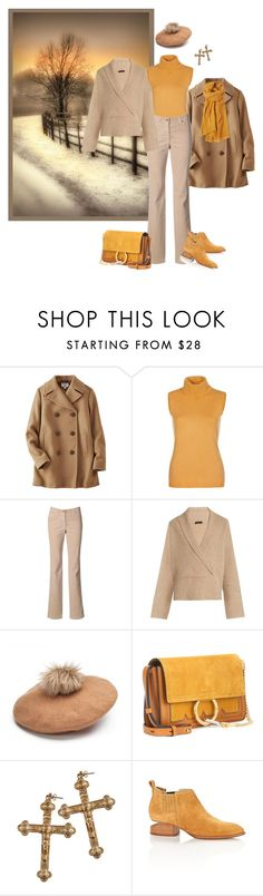 """""""Untitled #1229"""" by milliemarie ❤ liked on Polyvore featuring Uniqlo, The Row, Chloé, Rock 'N Rose, Alexander Wang and Toast"""