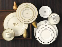 Pickard China Signature Collection Monogrammed China collection