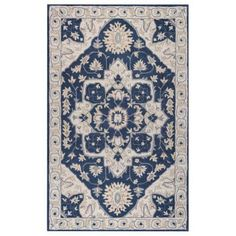 Rizzy Home Valintino Vn9977 Blue / Natural Area Rug 2 Feet 6 Inches x 8 Feet