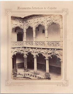 1870 C.A C. ALGUACIL PATIO DEL PALACIO DEL INFANTADO GUADALAJARA PHOTO ALBUMINA