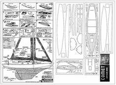 The Comet Kit Redraw- Gypsy Sloop Jr. - 10.75 in hull length Comet kit no. J-1 is one of the model airplane plans available for download and printing.