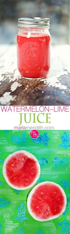 Watermelon Lime Refresher | Make this your signature summer fruit #juice or spike it for a #cocktail | MarlaMeridith.com ( @marlameridith )