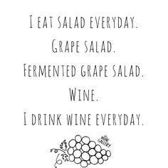 Hands up if you eat this special kind of salad every day!  #cheers #wine #wino #winelife #winetime #wineoclock #winestagram #winesday #bottleservice #vino #winelovers #winenight #wineporn #winesquad #winespo #thewinegallery