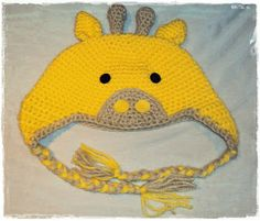 damn it Janet, let's crochet!: Giraffe Beanie with Earflaps