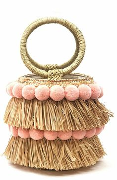 Diy Straw, Straw Bag, Diy Bag Designs, Macrame Purse, Striped Bags, Diy Handbag, Beautiful Handbags, Crochet Handbags, Knitted Bags