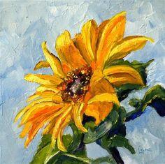Sunny D - a Sunflower by Saundra Lane Galloway Prints For Sale, Art For Sale, Sunny D, Popular Paintings, Sunflower Art, Fine Art Gallery, Still Life, Fine Art America, Sunflowers