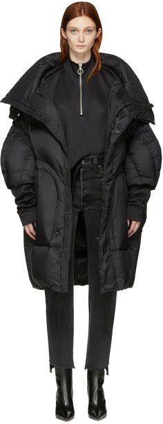 1000€ Chen Peng - Manteau surdimensionné noir Puffer